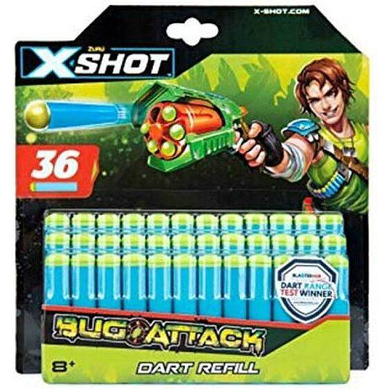 X-Shot Bogártámadás szivacs töltény utántöltő 36db-os - 1. kép