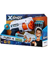 X-Shot Fury 4 lövetű szivacslövő pisztoly - 1. kép