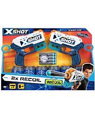 X-Shot Recoil Szivacslövő játék pisztoly 2db célpont bobozokkal - 1. kép