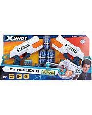 X-Shot Reflex 6 forgótáras szivacslövő pisztoly 2db 6 db célpont doboz - 1. kép