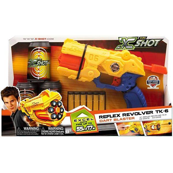 X-Shot Revolver szivacslövő játékpisztoly szett - 1. kép
