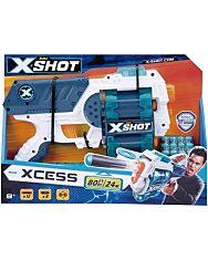 X-Shot Xcess dupla forgótáras szivacslövő és korongvető játékpisztoly - 1. kép