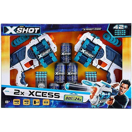 X-Shot Xcess Forgótáras szivacslövő pisztoly 2db 6 doboz