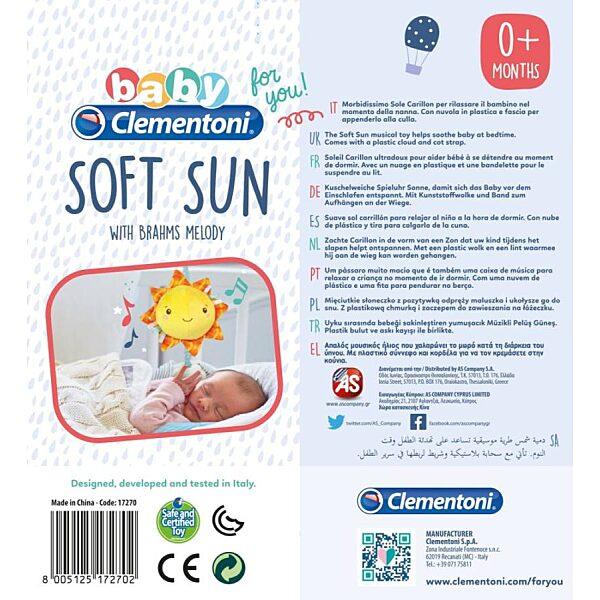 Zenélő plüss nap - Clementoni Baby - 3. kép