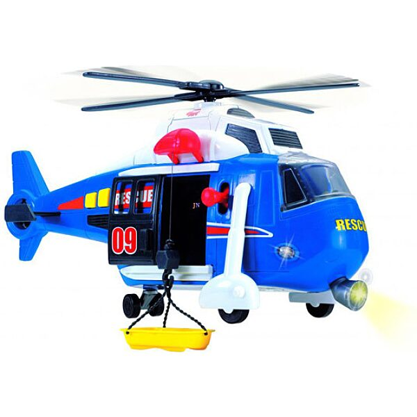 Action Series mentőhelikopter - kék - 2. Kép