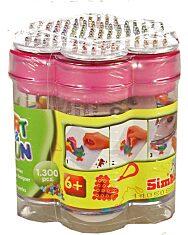 Art and Fun: 1300 darabos vasalható gyöngy készlet - több színben - 1. Kép
