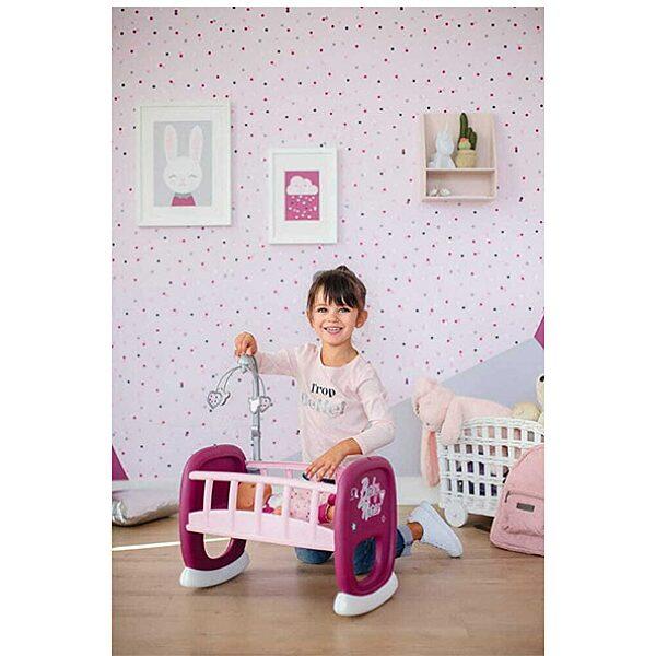 Baby Nurse: bölcső kiságyforgóval - rózsaszín - 2. Kép
