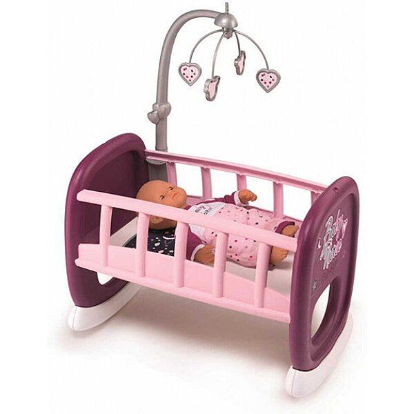 Baby Nurse: bölcső kiságyforgóval - rózsaszín - 1. Kép