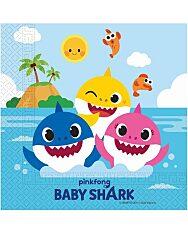 Baby Shark: 20 darabos szalvéta - 30 x 30 cm - 1. Kép