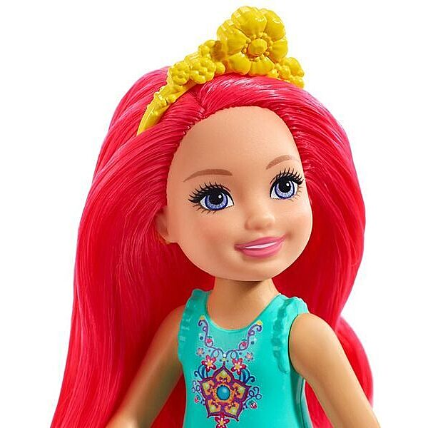 Barbie Dreamtopia: Pink hajú lány baba - 2. Kép