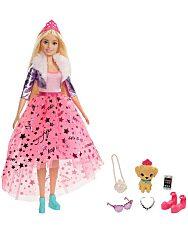 Barbie: Hercegnő kaland - Szőke hajú baba kiskutyával - 1. Kép