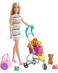 Barbie: Kölyök kutyus sétáltató játékszett - 1. Kép