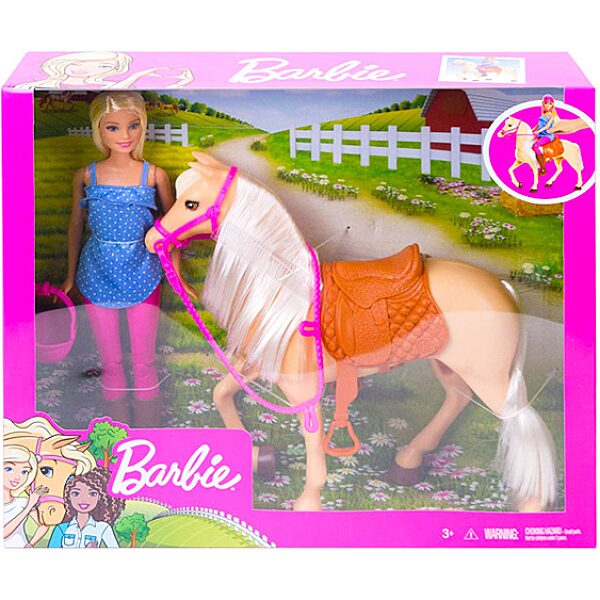 Barbie: lovas szett babával - 2. Kép