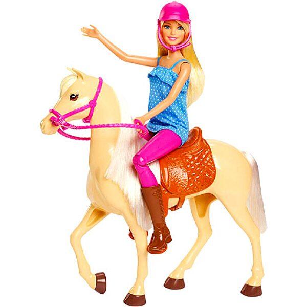 Barbie: lovas szett babával - 1. Kép