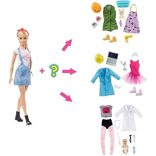 Barbie: Meglepetés karrier baba - szőke - 2. Kép