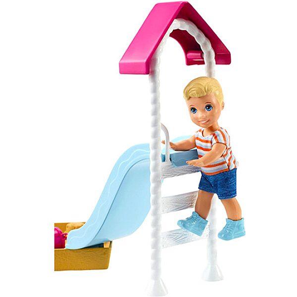 Barbie Skipper: bébiszitter kiegészítő szett - játszótér szőke hajú kisbabával - 2. Kép