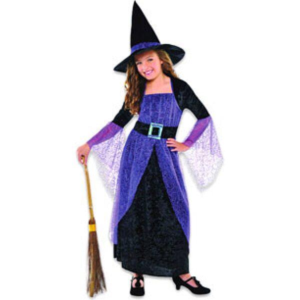 Boszorkány jelmez - lila