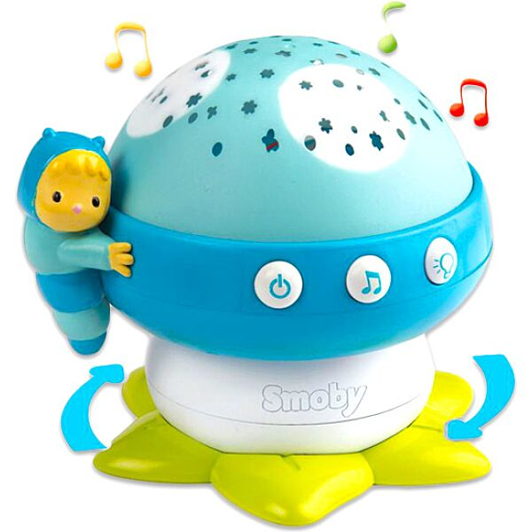 Cotoons: Zenélő gomba projektor - kék - 1. Kép