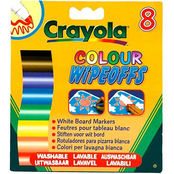 Crayola: 8 db lemosható vastag filctoll fehér táblára - 4. Kép