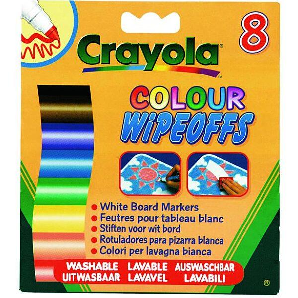Crayola: 8 db lemosható vastag filctoll fehér táblára - 5. Kép