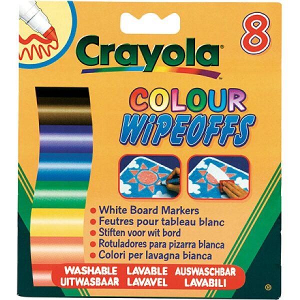 Crayola: 8 db lemosható vastag filctoll fehér táblára - 6. Kép