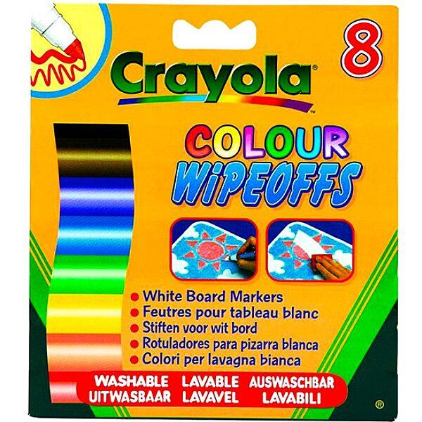 Crayola: 8 db lemosható vastag filctoll fehér táblára - 1. Kép