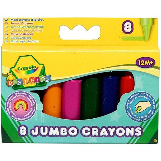 Crayola: 8 db színes tömzsi viaszkréta - 1. Kép