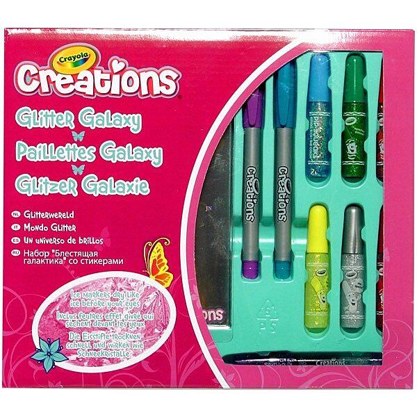 Crayola Creations: Csillámos ragasztó készlet jeges filctollakkal - 1. Kép