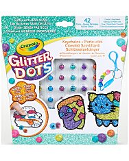 Crayola: Glitteres Dekorgyöngyök - kulcstartó készítő készlet - 1. Kép