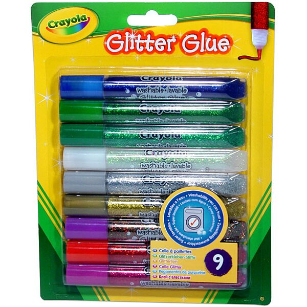 Crayola: Lemosható csillámos ragasztó - 9 db - 1. Kép