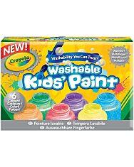 Crayola: Lemosható metál festék - 6 darabos - 1. Kép