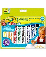 Crayola Mini Kids: 12 db tompa hegyű filctoll - 1. Kép