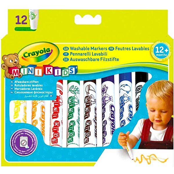 Crayola Mini Kids: 12 db tompa hegyű filctoll - 4. Kép