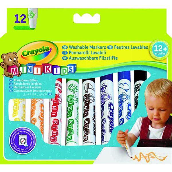 Crayola Mini Kids: 12 db tompa hegyű filctoll - 5. Kép