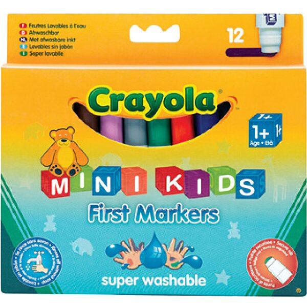 Crayola Mini Kids: 12 db tompa hegyű filctoll - 6. Kép