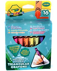Crayola Mini Kids: Háromszög tömzsi viaszkréták - 16 db - 1. Kép