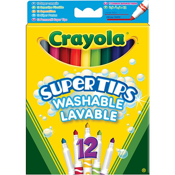 Crayola: Vastag hegyű lemosható filctoll - 5. Kép
