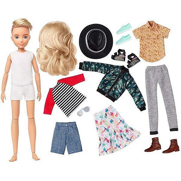 Creatable World: Szőke hajú öltöztethető baba 12 kiegészítővel - 2. Kép