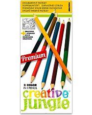 Creative Jungle 12 darabos dupla színes ceruza készlet kifestővel - 1. Kép