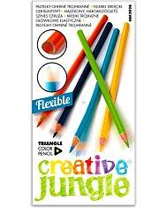 Creative Jungle 12 darabos háromszögletes hajlékony színes ceruza - 1. Kép