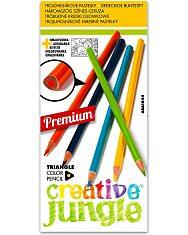Creative Jungle 12 darabos háromszögletű színes ceruza készlet - 1. Kép