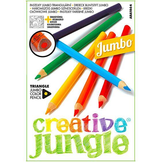 Creative Jungle 12 darabos jumbo háromszögletű színes ceruza - 1. Kép