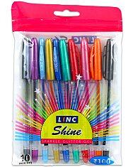 Csillámos zselés toll 10 darabos készlet - 1. Kép