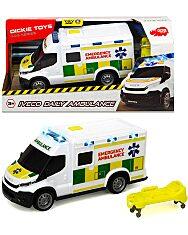 Dickie: Iveco Daily mentőautó fénnyel és hanggal - 18 cm - 1. Kép