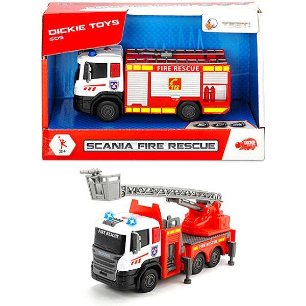 Dickie: Scania tűzoltóautó - 17 cm
