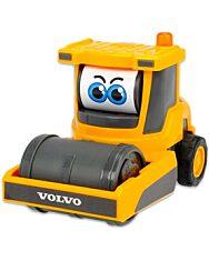 Dickie Toys: Boldog masinák - mozgó szemű Volvo Compactor úthenger - 1. Kép