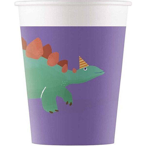 Dinó mintás papír pohár 2 dl - 8 db - 1. Kép