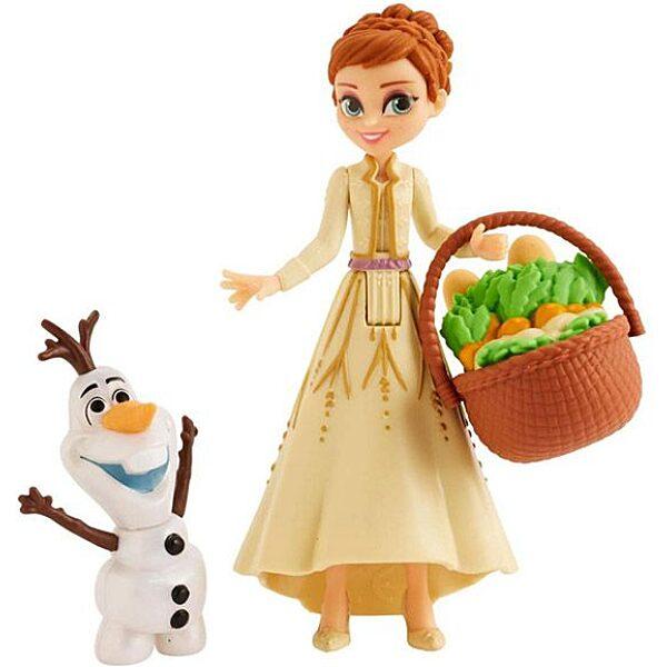 Disney hercegnők: Jégvarázs 2 mini Olaf és Anna baba - 10 cm - 2. Kép