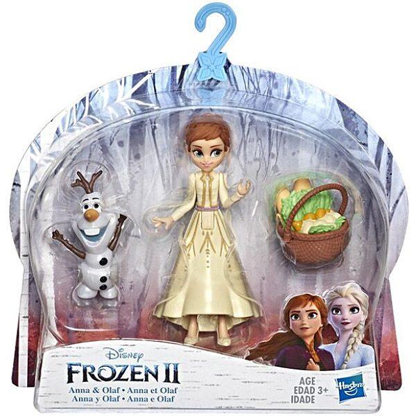 Disney hercegnők: Jégvarázs 2 mini Olaf és Anna baba - 10 cm - 1. Kép