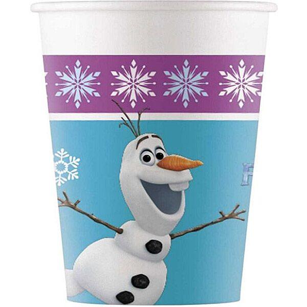 Disney hercegnők: Jégvarázs 8 darabos papírpohár - kék-lila